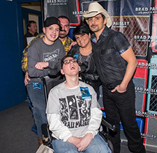 Austin Davis and Family with Brad Paisley